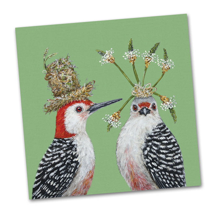 First Date Birds Paper Luncheon Napkins by Vicki Sawyer