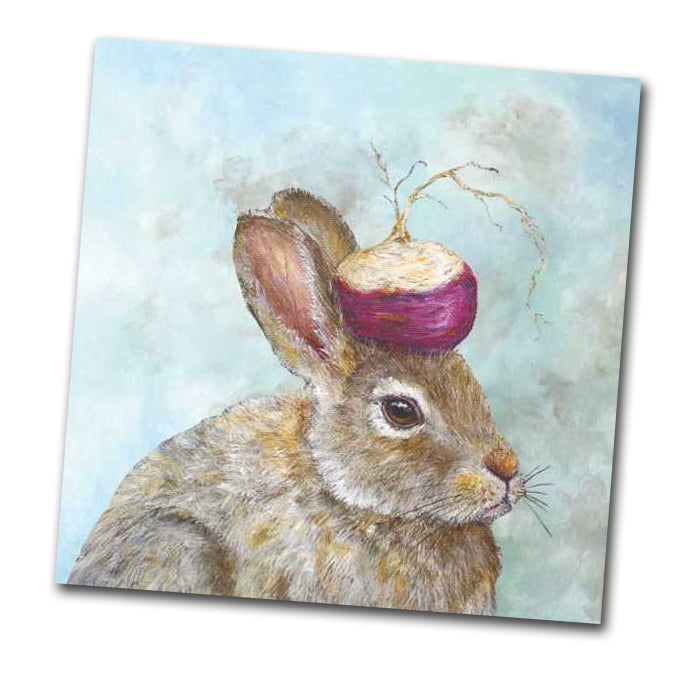 Turnip Guardian Rabbit Napkin by Vicki Sawyer - Luncheon