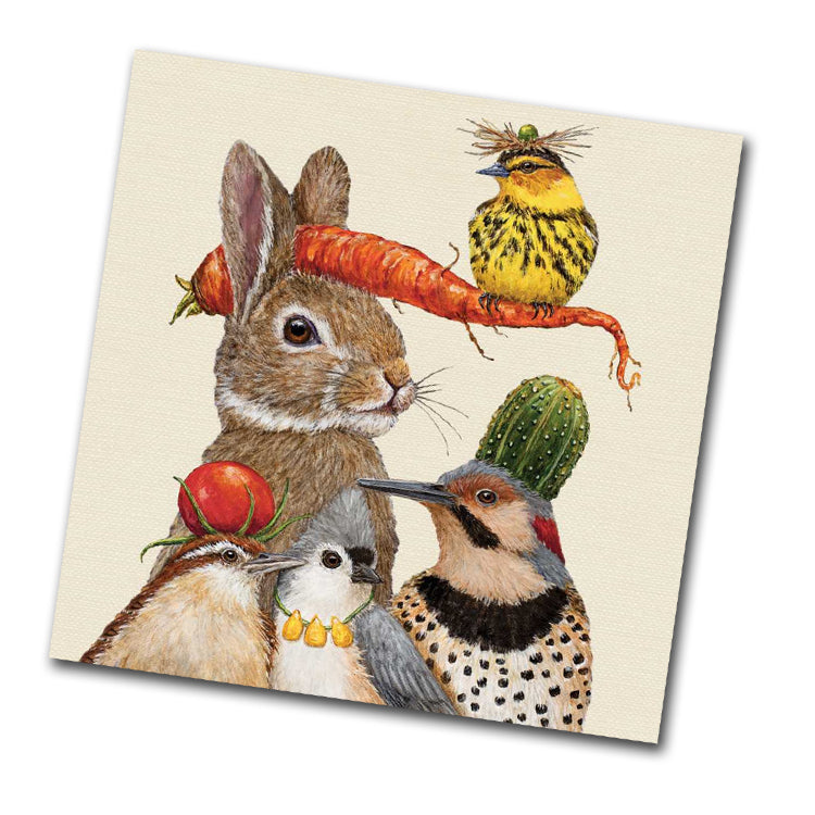 Harvest Party, Wildlife Beverage Napkins by Vicki Sawyer