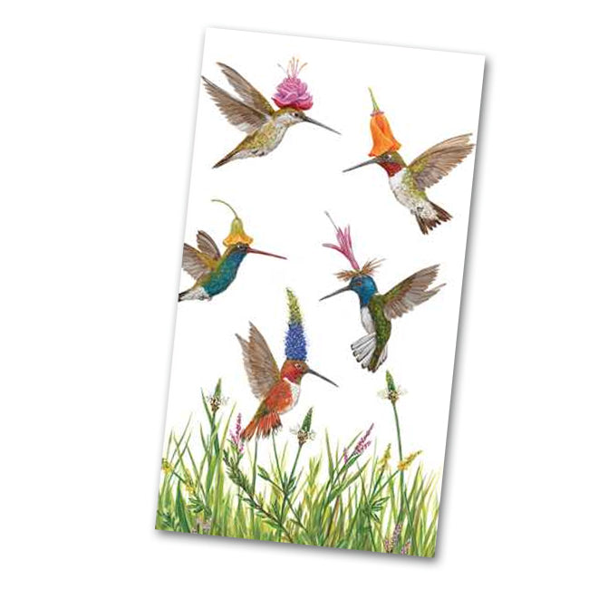 Meadow Buzz Hummingbirds Guest Towels - Buffet Napkins