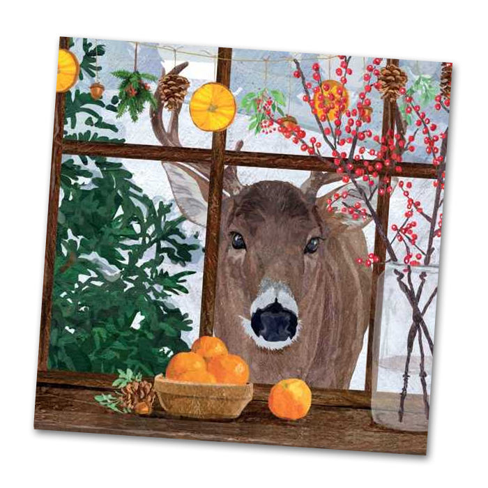 Hearth Time Deer Luncheon Napkins