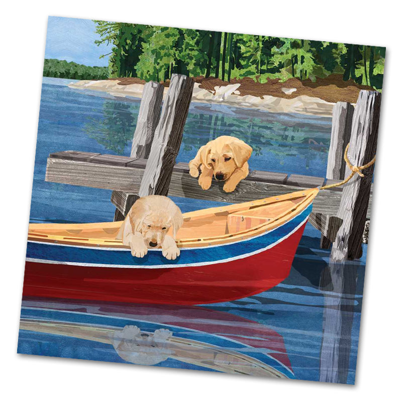 Lakeside Puppies Luncheon Napkins