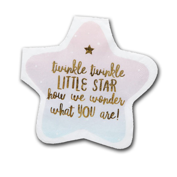 Twinkle Little Star Shaped Party Napkins