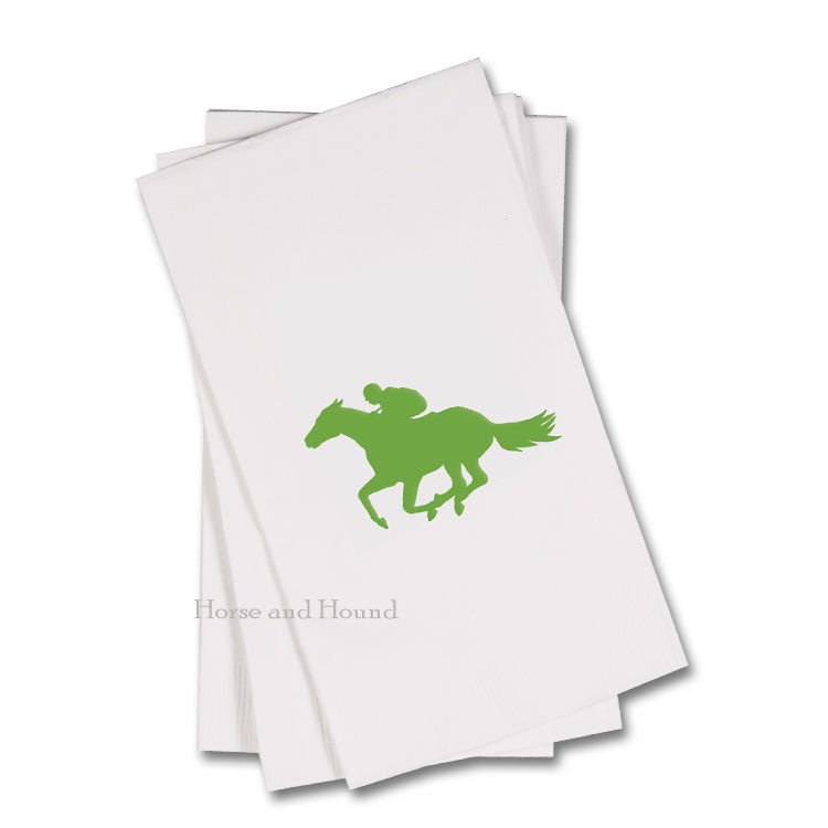 Green Racehorse Paper Guest Towels