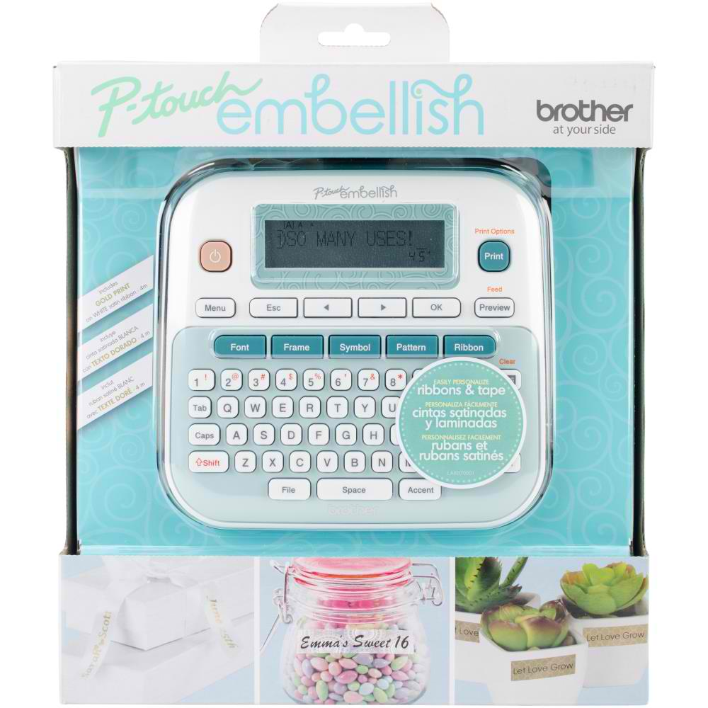 P-touch Embellish Ribbon & Tape Printer