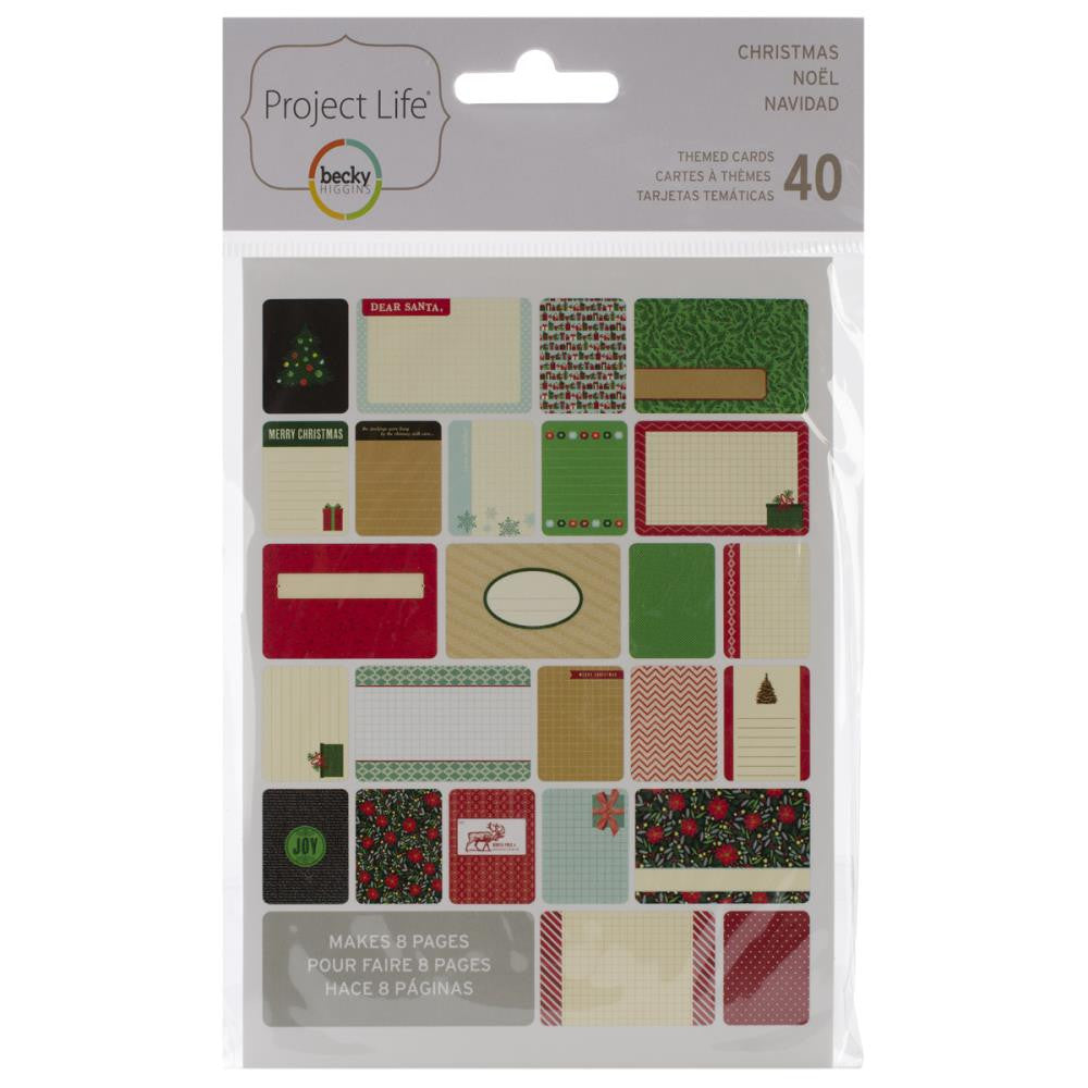Project Life Christmas Themed Cards (40 pcs./Pkg)