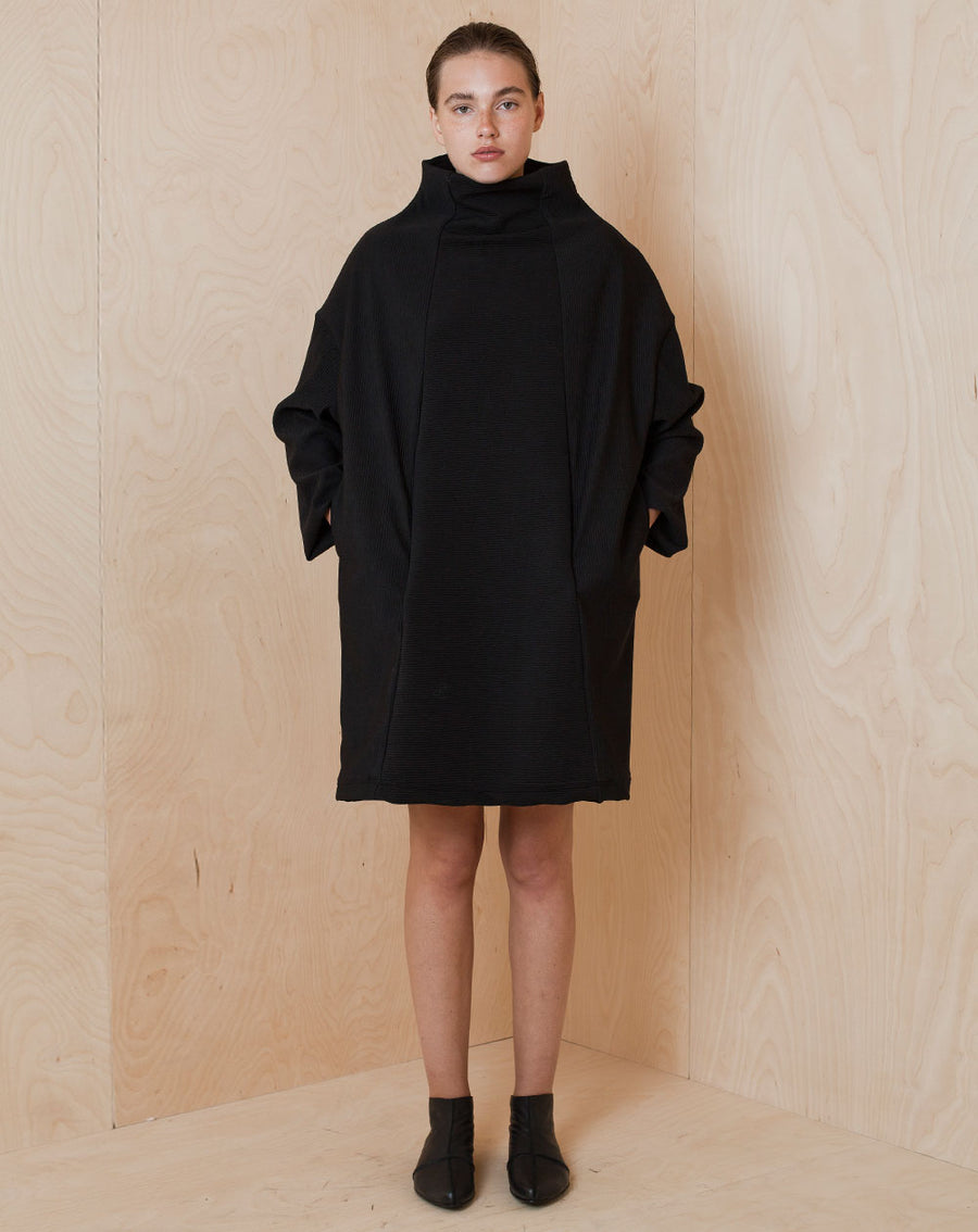 Wide Turtleneck Dress