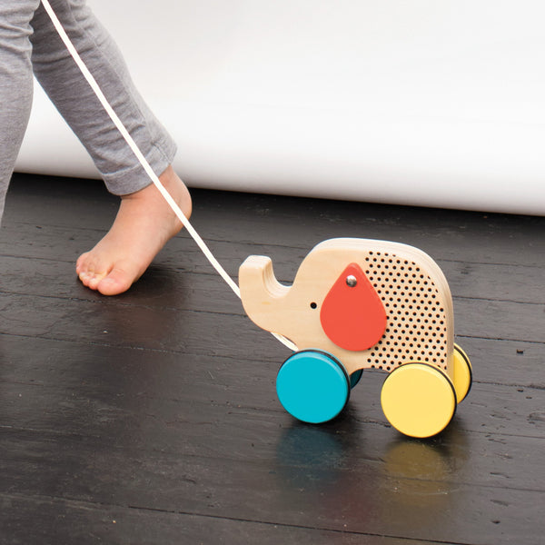 Wooden Baby Toys, Pull Along Elephant by Petit Collage