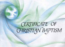 ecumenical certificate of christian baptism