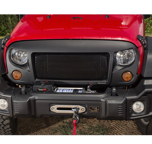 (RUGGED RIDGE) 07-17 WRANGLER SPARTAN GRILLE BLACK W/BLACK SCREEN