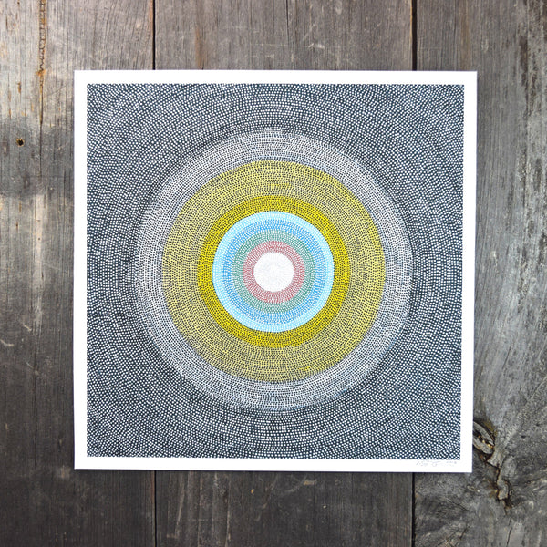 Circular Dots One 8-8in Giclee Print