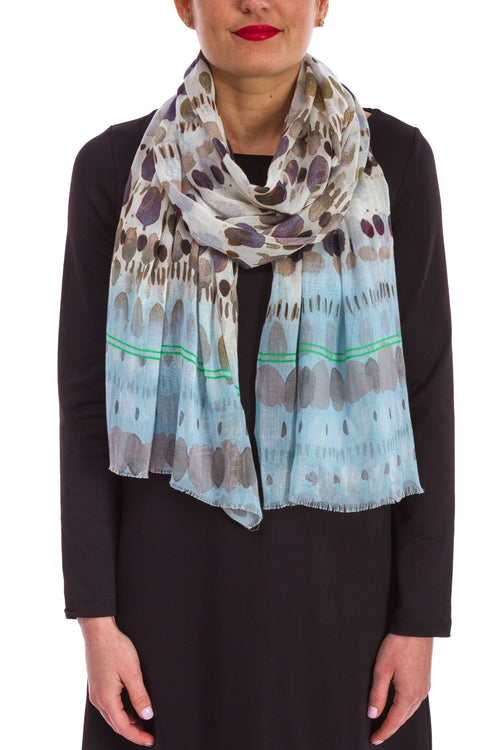 Abstract Dot Printed Scarf