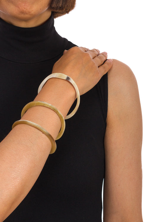 Set of 3 Irregular Shapes Horn Bracelet