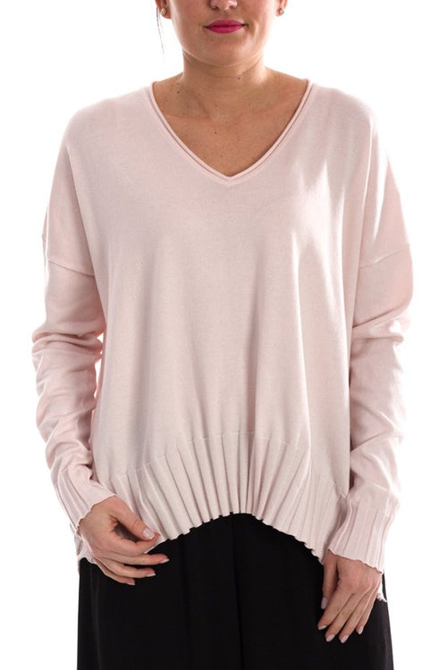 V Neck Rib Sweater