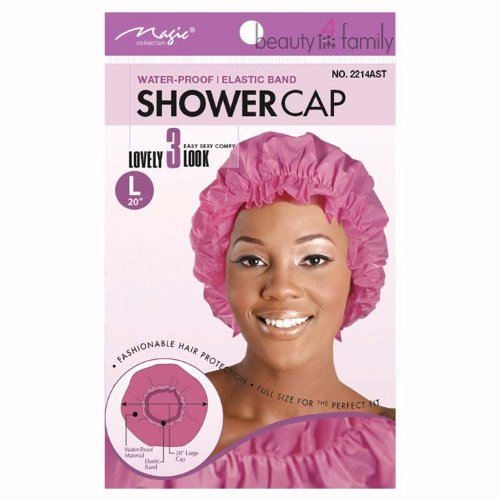 Magic Collection Water Proof Shower Cap with Elastic Band Large - Assorted Colors