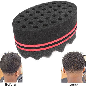 Curly Hair Styling Sponge Brush Dreads Locking Twist Afro Locs Style Barber Tool