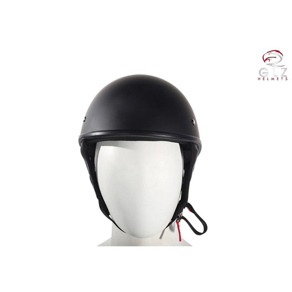 Low-Profile Flat Black DOT Approved Motorcycle Helmet