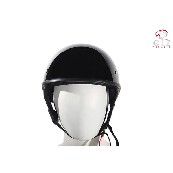 Shiny black finish UV protective finish This D.O.T. helmet meets or exceeds all D.O.T. Standards Small and light shell Low-profile fit (No big mushroom-head look)