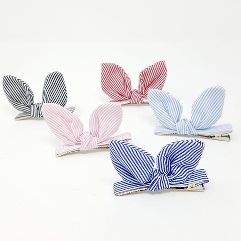 Bunn Ears (wired) hair clip - Stripe
