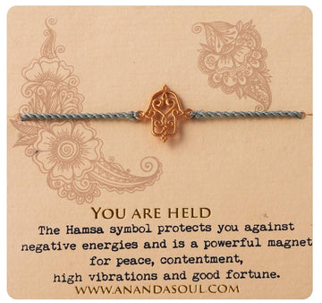 You are held bracelet • Gold