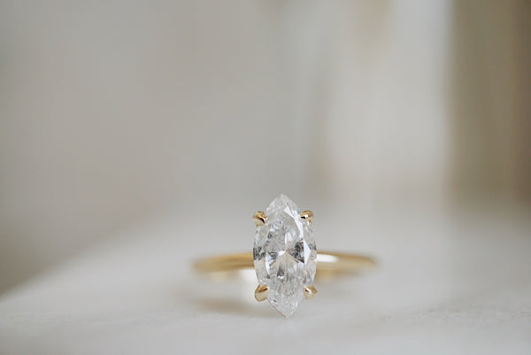 Only One Ring - 1.06ct Marquise Salt and Pepper Diamond *online exclusive