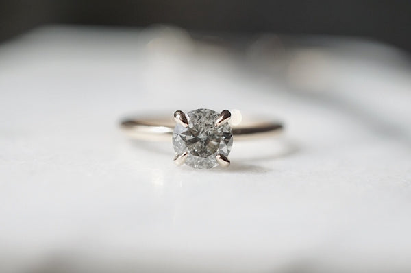 Only One Ring - .95ct Salt and Pepper Diamond *online exclusive