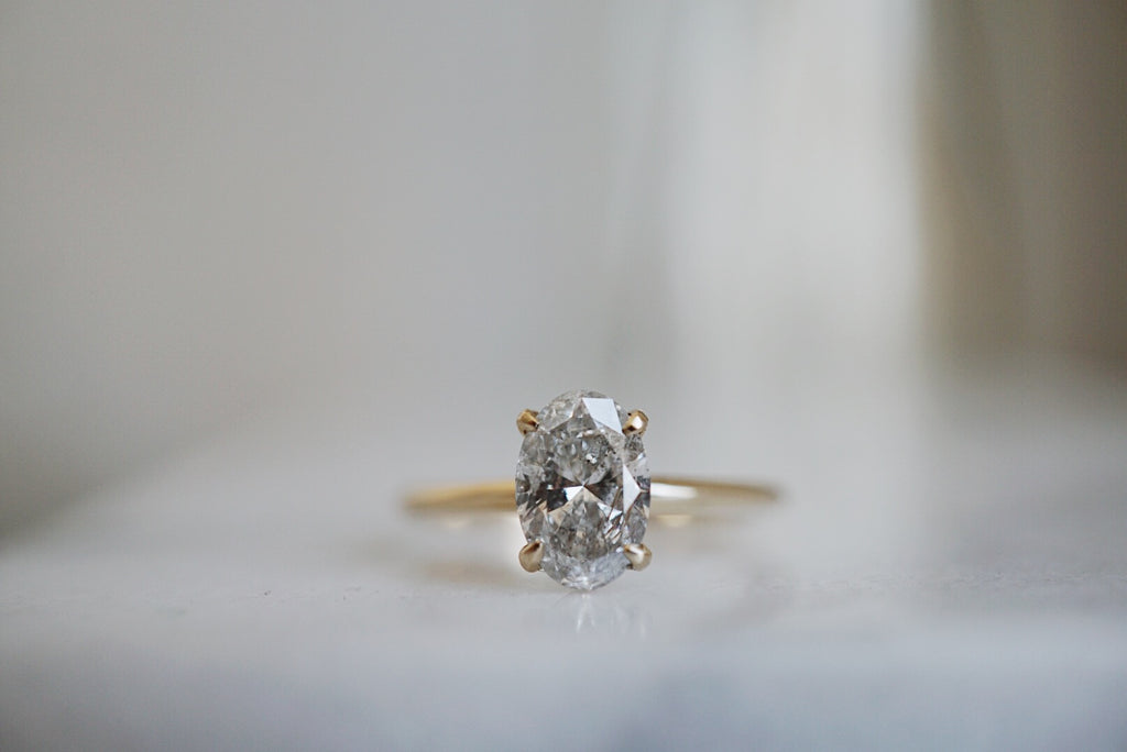 Only One Ring - 1.07ct Oval Salt and Pepper Diamond *online exclusive