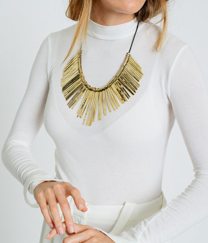 Golden Spikes Necklace,  - Rose & Fitzgerald