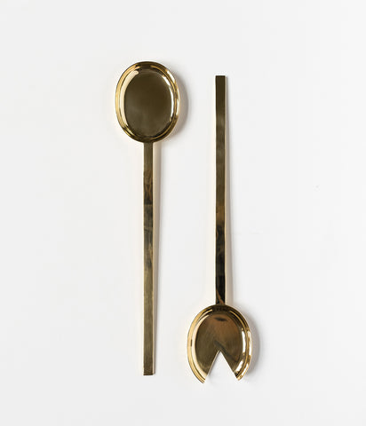 Pure Brass Serving Spoon Set,  - Rose & Fitzgerald