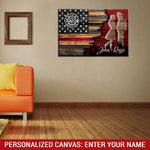 Customized Firefighter  - 5 Piece Canvas Wallart - HD Quality