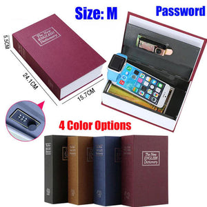 Dictionary Safe Box Secret Book Jewellery Password Locker For Kid Gift