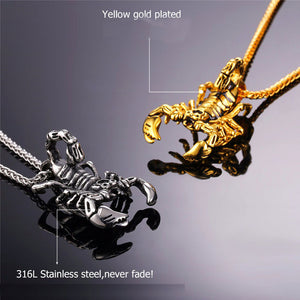 Scorpion American Style Steampunk Pendant Necklace For Men