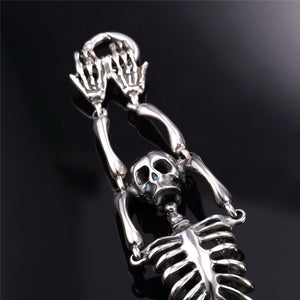 Skull Bones Skeleton Rock Punk Charm Bracelets For Men's