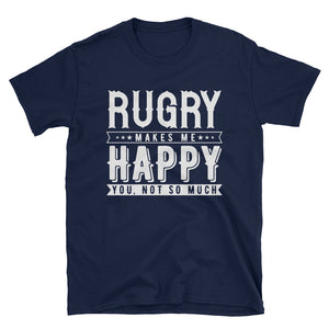 Rugby Makes Me Happy T-Shirt