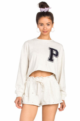 LETTERMAN SWEATSHORT SET
