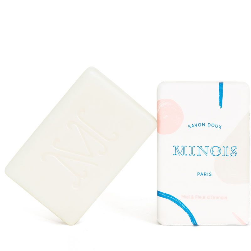 Minois Paris Savon Doux (Gentle Soap) (100 g) bar and outer packaging