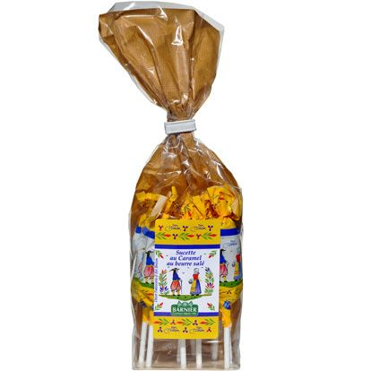 Barnier Caramel Lollipops with Salted Butter (12 pc) in bag