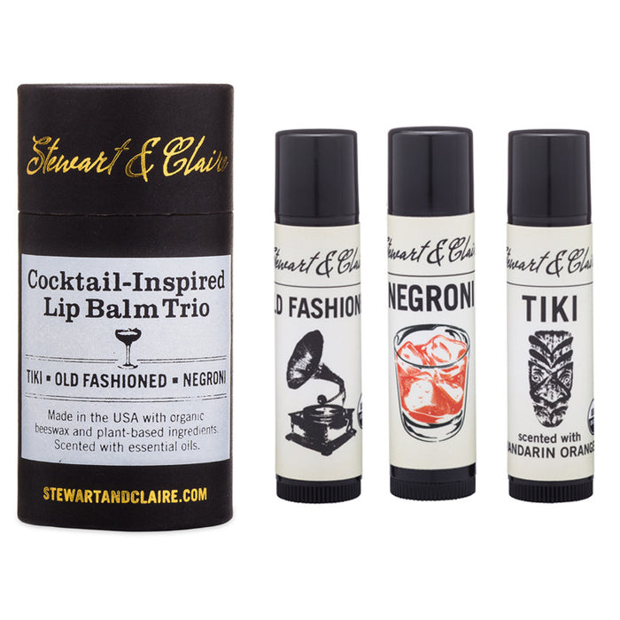 Stewart & Claire Cocktail-Inspired Lip Balm Trio