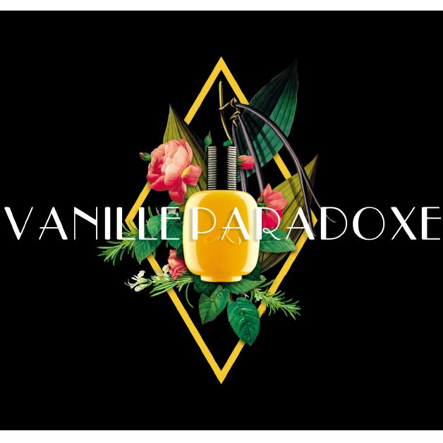 Les Parfums de Rosine Vanille Paradoxe (100 ml) Bottle over Flowers