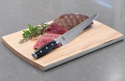 Dragon 10.5 Inch Slicing and Carving Knife Lifestyle with Tri Tip