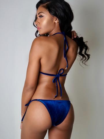 Kini Side Tie Bottom Blue