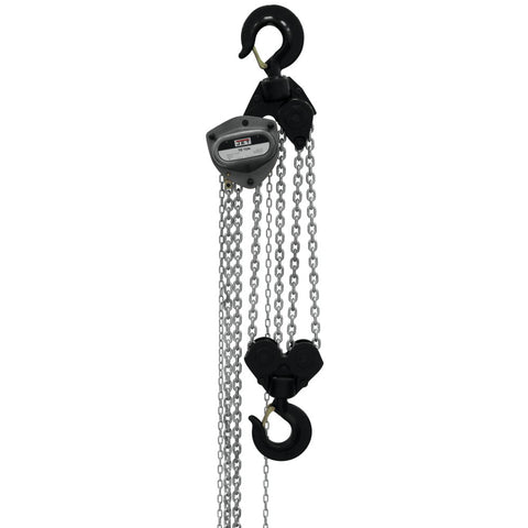 Jet 209130 L-100-1000WO-30 10-Ton Hand Chain Hoist 30' Lift, Overload Protection