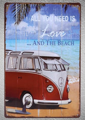 All You Need Is The Beach Tin Sign - OceanHelper