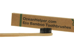 Bamboo Eco Toothbrushes Infused with Charcoal (Family Packs)
