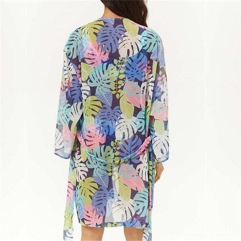 Tropical Leaf Beach Cover Up - OceanHelper
