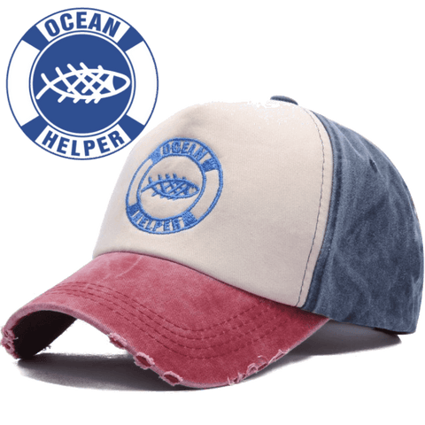 "Ocean Helper ""Worn Look"" Baseball Cap - OceanHelper"