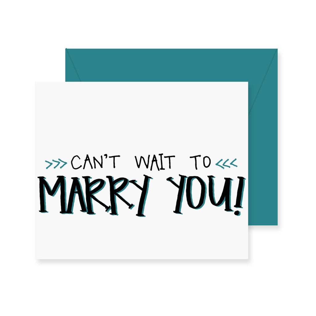 Can't Wait to Marry You Greeting Card