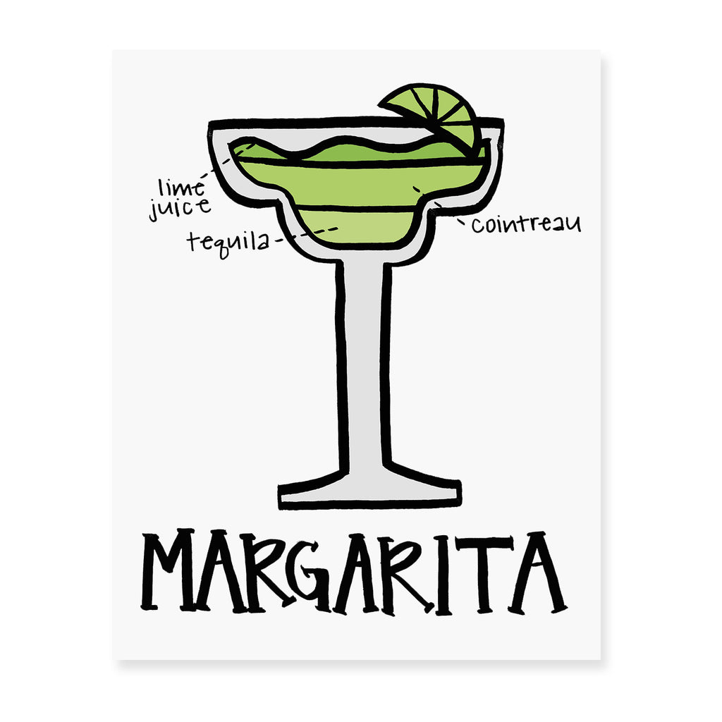 Margarita Diagram Art Print