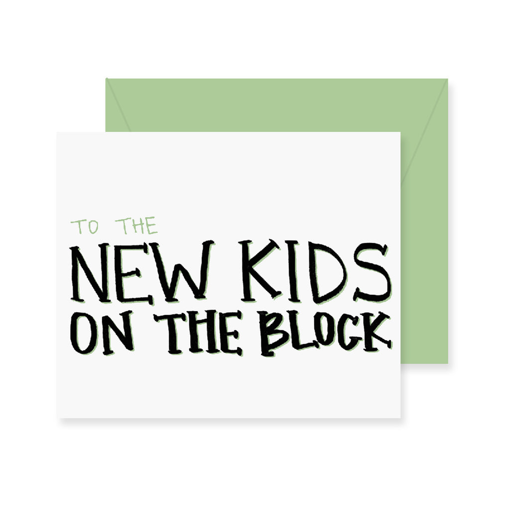 New Kids On The Block Greeting Card