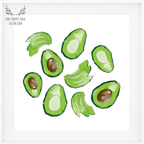 nursery print avocado